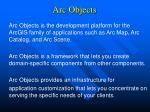 Arc Objects