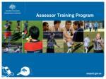 Assessor Training Program