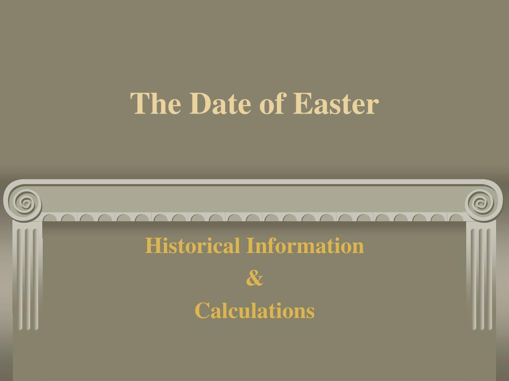 the date of easter l.