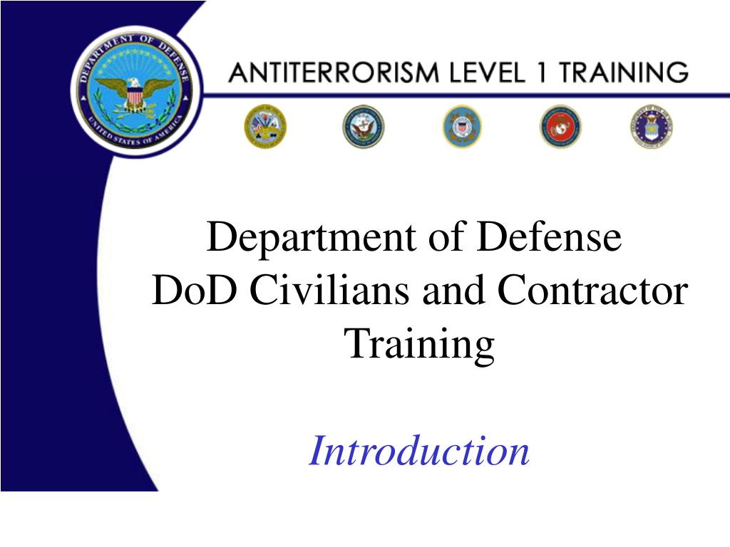 department of defense dod civilians and contractor training introduction l.