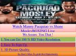 manny pacquiao vs shane mosley live saturday night boxing pp