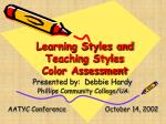 Learning Styles and Teaching Styles Color Assessment