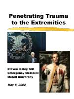 Penetrating Trauma to the Extremities