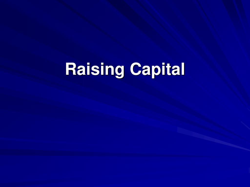 raising capital l.
