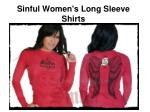 Cheap Sinful Womens Long Sleeve