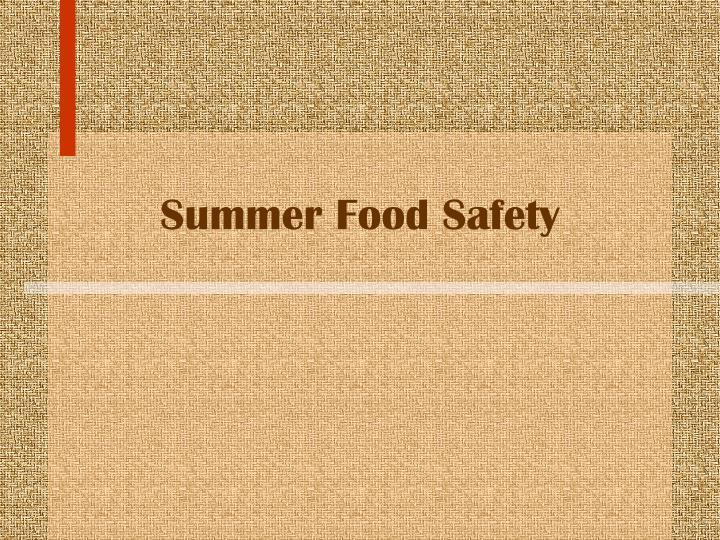 summer food safety n.