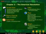 Chapter 3 – The American Revolution