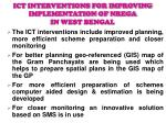 ICT INTERVENTIONS FOR IMPROVING IMPLEMENTATION OF NREGA IN WEST BENGAL