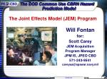 The Joint Effects Model (JEM) Program