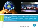 Biopolymer micro and nanocomposites: modification of interphases