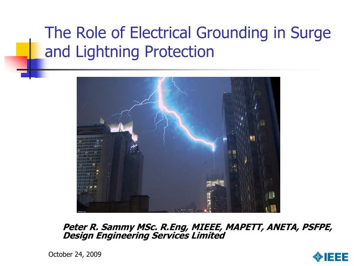 the role of electrical grounding in surge and lightning protection n.
