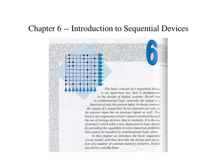 chapter 6 introduction to sequential devices n.