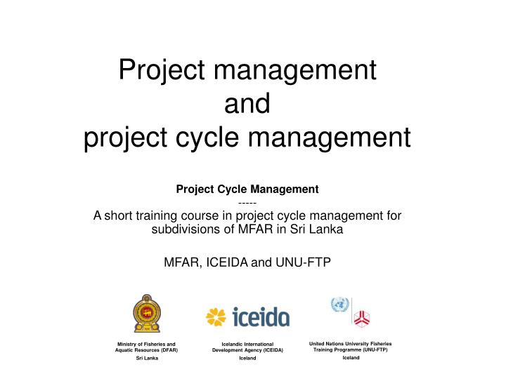 project management and project cycle management n.