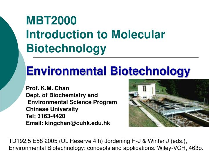 mbt2000 introduction to molecular biotechnology n.