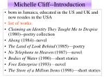 Michelle Cliff--Introduction