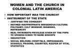 WOMEN AND THE CHURCH IN COLONIAL LATIN AMERICA