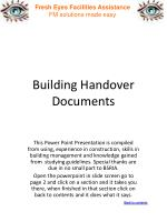 Building Handover Documents