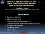Impacts of High-Resolution Land and Ocean Surface Initialization on Local Model Predictions of Convection
