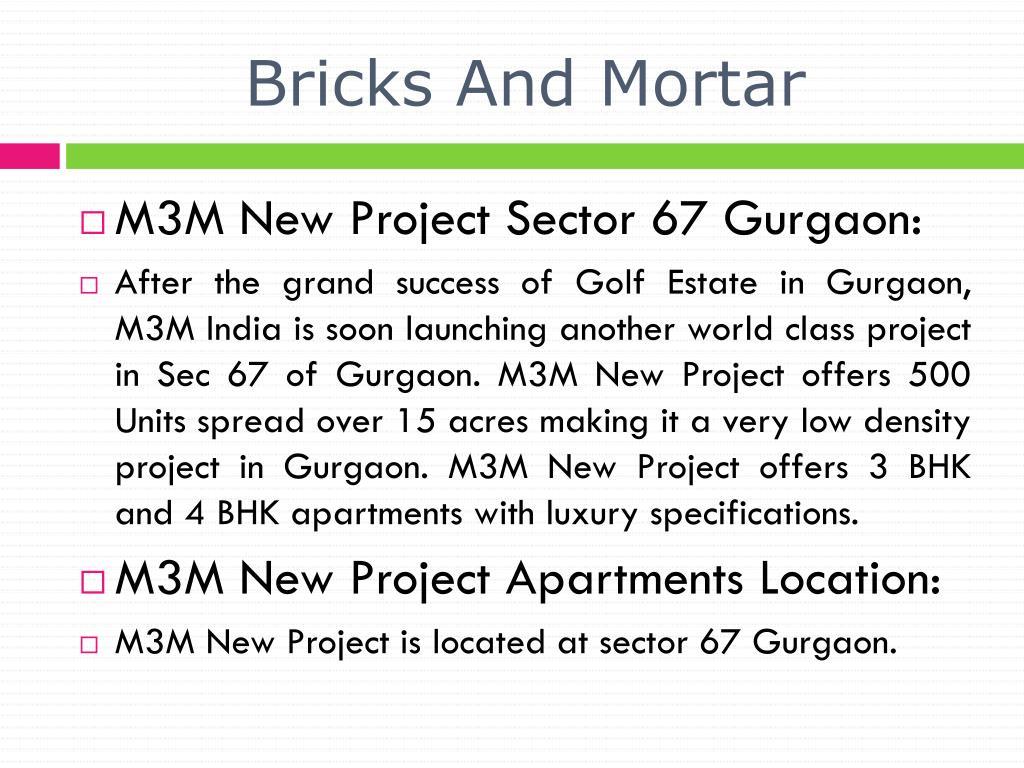 bricks and mortar l.