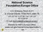 National Science Foundation/Europe Office