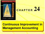 Continuous Improvement in Management Accounting