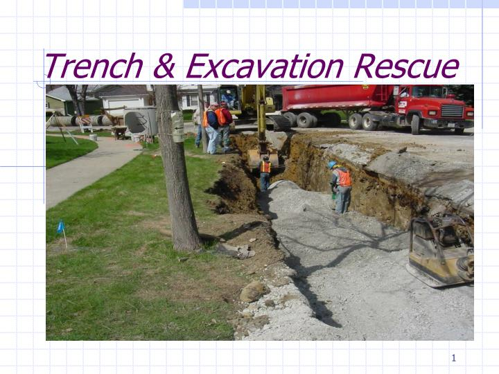 trench excavation rescue n.