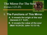 The Mirror For The Soul ( James 1:23-25)
