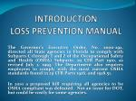INTRODUCTION LOSS PREVENTION MANUAL
