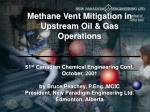Methane from the Upstream Industry