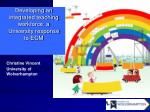 Developing an integrated teaching workforce: a University response to ECM