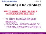 Marketing is for Everybody