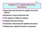 Chapter 14: Capital Structure Decisions