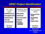UESC Project Identification