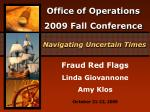 Fraud Red Flags Linda Giovannone Amy Klos