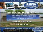 Park and Ride Presentation
