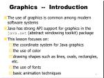 Graphics -- Introduction