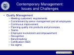 Contemporary Management: Issues and Challenges