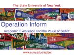 Academic Excellence and the Value of SUNY