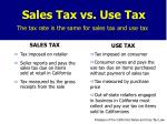Sales Tax vs. Use Tax