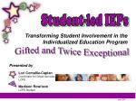 Student-led IEPs