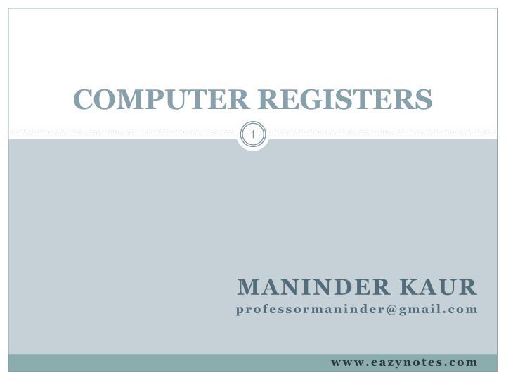 computer registers n.