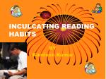INCULCATING READING HABITS