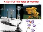 Chapter 25 The Rates of chemical reactions