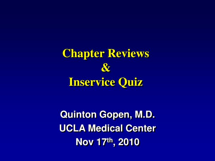 Medical Quiz Ppt