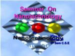 Seminar On Nanotechnology