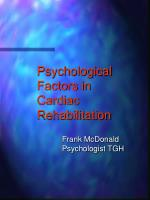 Psychological Factors in Cardiac Rehabilitation