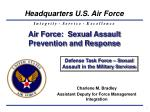 Air Force: Sexual Assault Prevention and Response