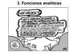 3. Funciones analíticas