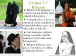 Chapter 5-3 Religion