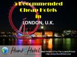 London - 5 Recommended Cheap Hotels